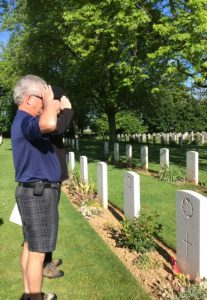 A Salute at Bill Feschuk's grave